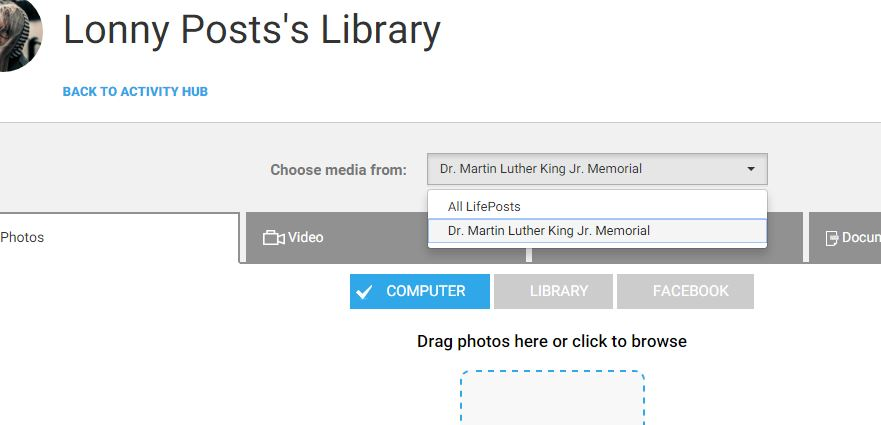 You can filter your library by LifePost