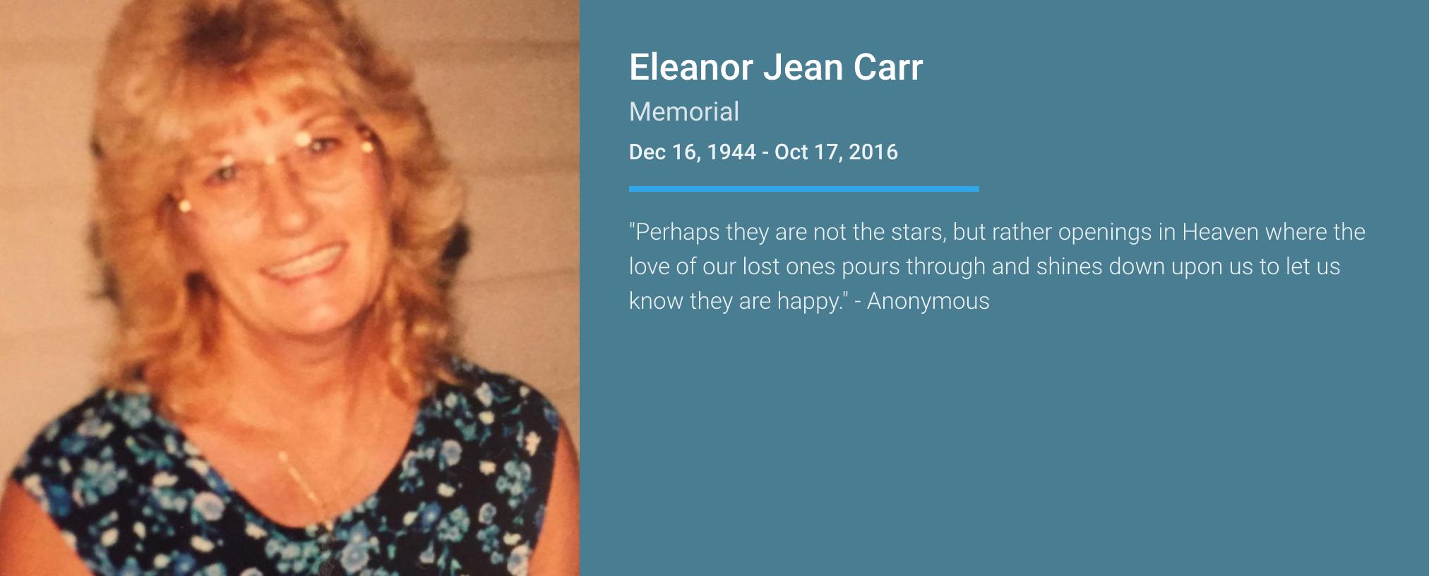 Eleanor Jean Carr